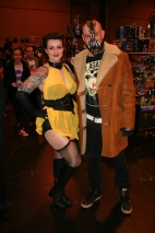 Silk Spectre and Bane.