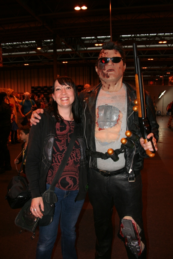 Mrs Platinum Al meets the Terminator.