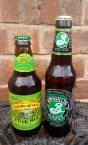 Sierra Nevada - left, Brooklyn Lager - right