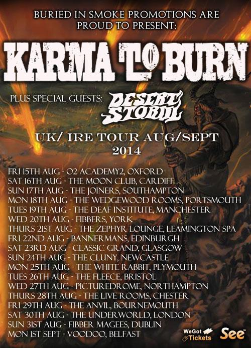 Karma to Burn - Live Review