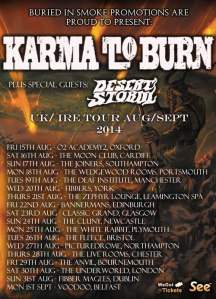 Karma-To-Burn-UK-Tour-2014