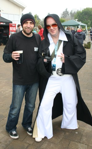 Greeny meets Darth Elvis