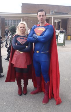 Supergirl and man