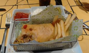 My delicious chimichanga. Half eaten, sorry.