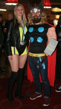 Silk Spectre and Thor