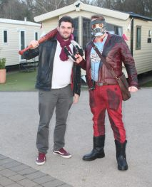 Negan and Star Lord