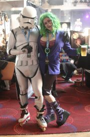 Skating trooper and Lady Joker
